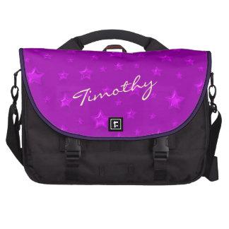 Purple Starry Laptop Bag Template