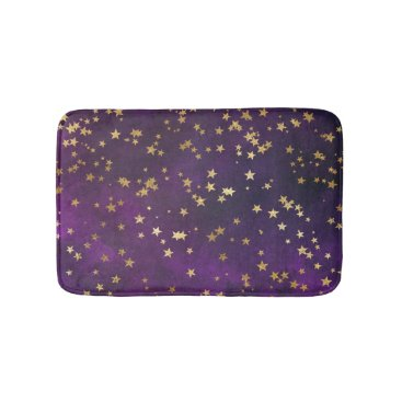 Beach Themed Purple Starry Night Bath Mat