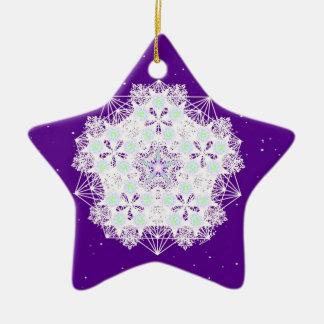 Purple Starry Night Christmas Ornaments