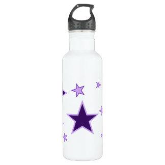 Purple Stars 24oz Water Bottle