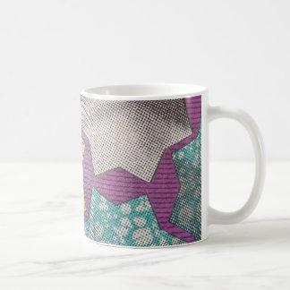 Purple Stars Ankara Mug