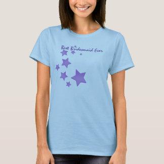 Purple Stars Best Bridesmaid Ever T-Shirt