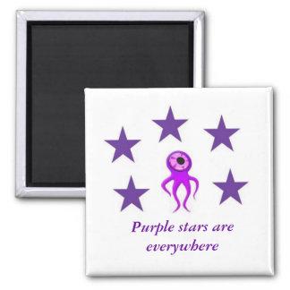Purple Stars Everywhere Magnet