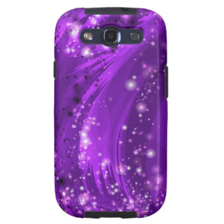 Purple Stars Fractal Art Samsung Galaxy S3 Case