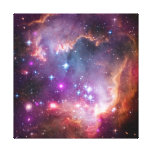 Purple Stars Galaxy Space Astronomy Gallery Wrapped Canvas