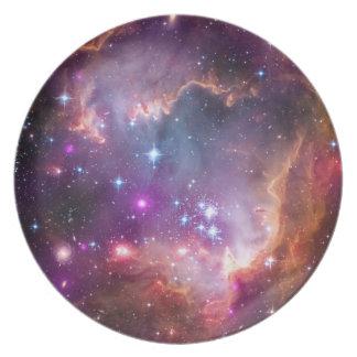 Purple Stars Galaxy Space Astronomy Plates