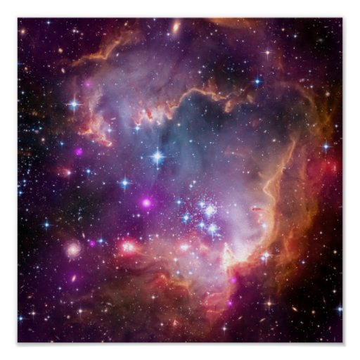 Purple Stars Galaxy Space Astronomy Poster