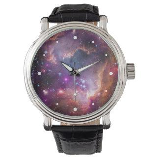 Purple Stars Galaxy Space Astronomy Wrist Watch