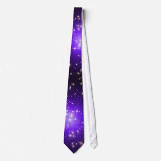 Purple stars haze in space NASA Neck Tie