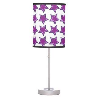 purple stars table lamps. Black Bedroom Furniture Sets. Home Design Ideas