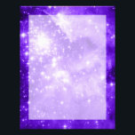"Purple Stars Letterhead<br><div class=""desc"">A digitally painted space image. The original is the giant star-forming nebula NGC 3603.</div>"