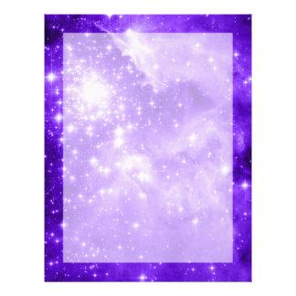 Purple Stars Letterhead