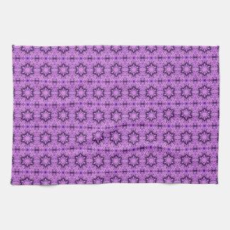 purple stars pattern kitchen towel