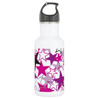 Purple Stars Pattern Stainless Steel Water Bottle
