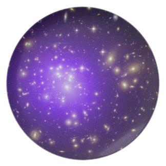 Purple stars dinner plates