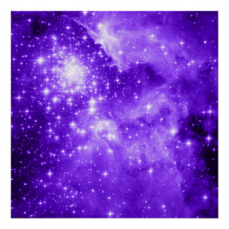 Purple Stars Posters