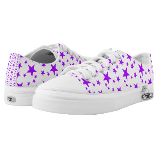 Purple Stars Printed Shoes
