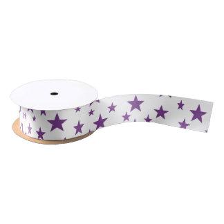 Purple Stars Ribbon Satin Ribbon