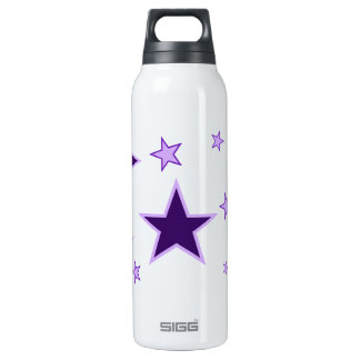 Purple Stars 16 Oz Insulated SIGG Thermos Water Bottle
