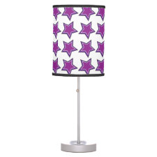 Purple Stars Table Lamps
