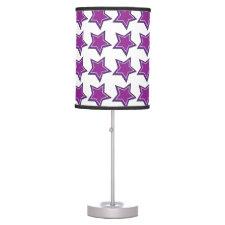 Purple Stars Table Lamps