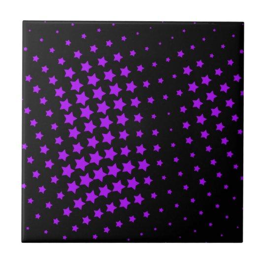 Purple Stars Tile