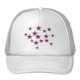 purple stars trucker hat
