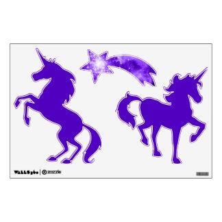 Purple Stars Unicorn Wall Decal
