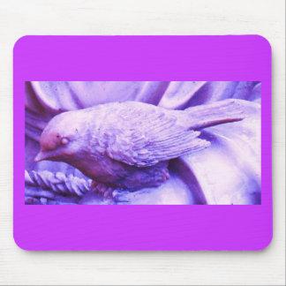 Purple Statuary Bird Mouse Pad