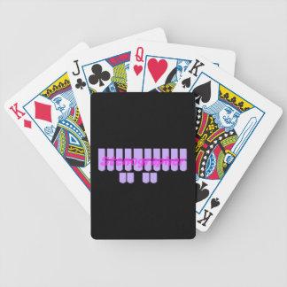 Purple Stenographer Steno Machine Keys Bicycle Playing Cards