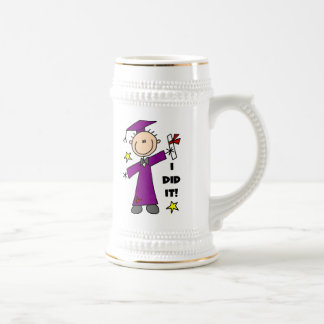 Purple Stick Figure Boy Graduate Mug