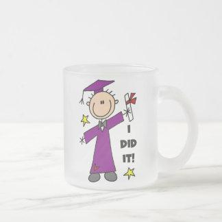 Purple Stick Figure Boy Graduate Coffee Mug