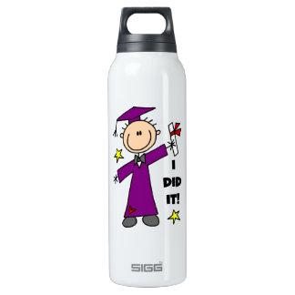 Purple Stick Figure Boy Graduate SIGG Thermo 0.5L Insulated Bottle