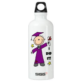 Purple Stick Figure Boy Graduate SIGG Traveler 0.6L Water Bottle