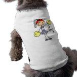 Purple Stick Figure Cheerleader t-shirts and Gifts Doggie Tee Shirt