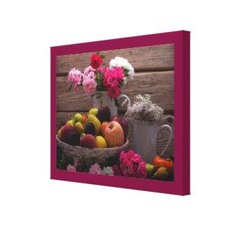 Purple Still Life Canvas Print|Table Setting
