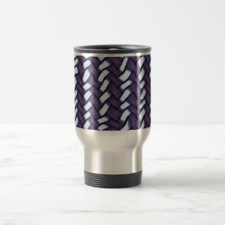 Purple stitch mug