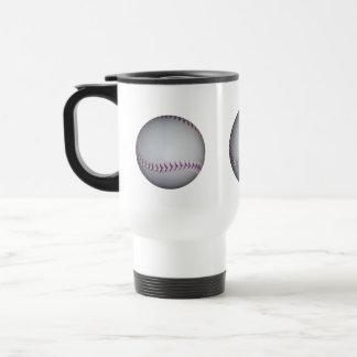 Purple Stitches Baseball / Softball 15 Oz Stainless Steel Travel Mug