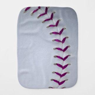 Purple Stitches Baseball / Softball Baby Burp Cloth