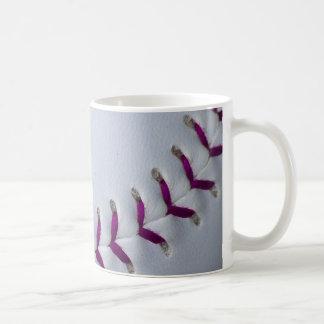 Purple Stitches Baseball/Softball Classic White Coffee Mug