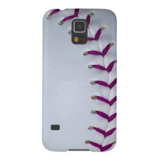 Purple Stitches Baseball / Softball Galaxy S5 Case