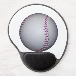 Purple Stitches Baseball / Softball Gel Mouse Pad