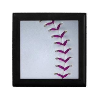 Purple Stitches Baseball/Softball Trinket Boxes