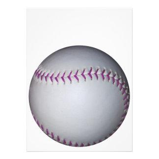 Purple Stitches Baseball / Softball Invitation