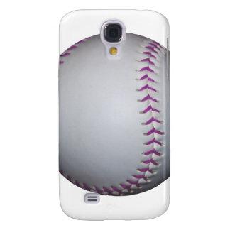 Purple Stitches Baseball / Softball Samsung Galaxy S4 Case