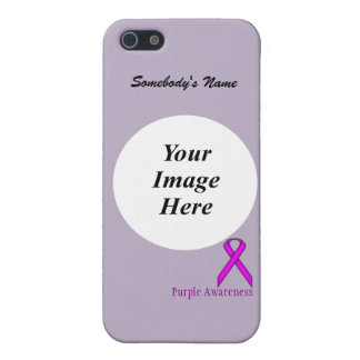 Purple Stnd Ribbon Template by Kenneth Yoncich Cover For iPhone SE/5/5s