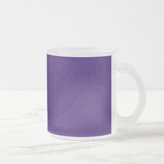 Purple Stockinette 10 Oz Frosted Glass Coffee Mug