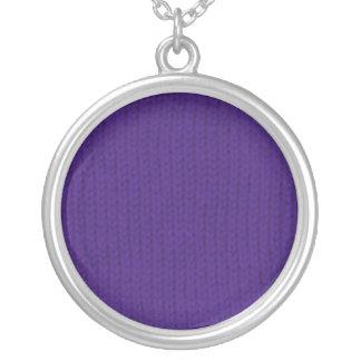 Purple Stockinette Necklace