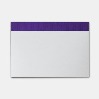 Purple Stockinette Post-it® Notes