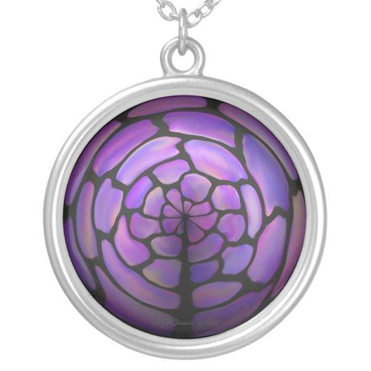 Purple Stone Labyrinth Necklace